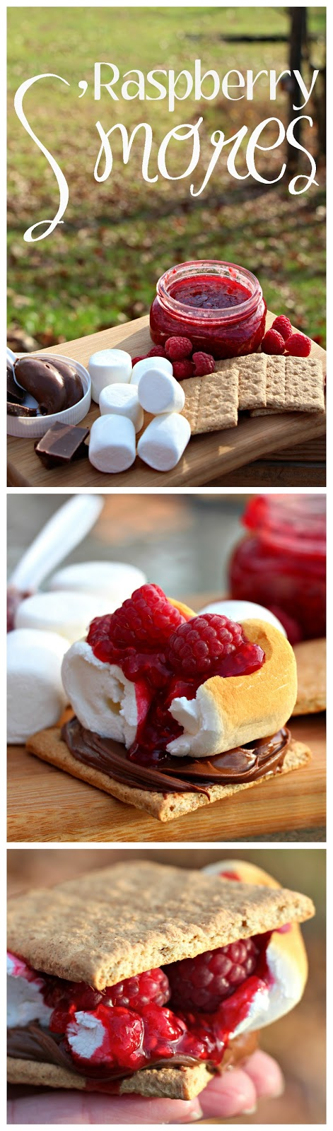 Family Glamping Weekend - Grilled Pizza and Raspberry S'mores | #Glamping #Camping #CampingRecipes #Smores S'mores Raspberry Sauce