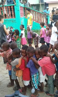 Garifuna, celebrating the children, children's day, Honduras