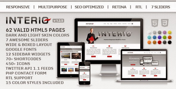 Download ThemeForest Interio - Responsive Multipurpose HTML5 Template for free.