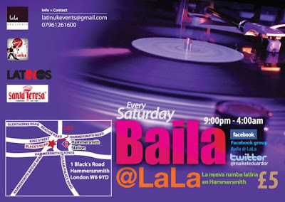 Baila @ Lala - Fiestas latinas en Londres