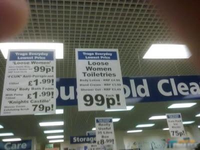 Loose women toiletries!