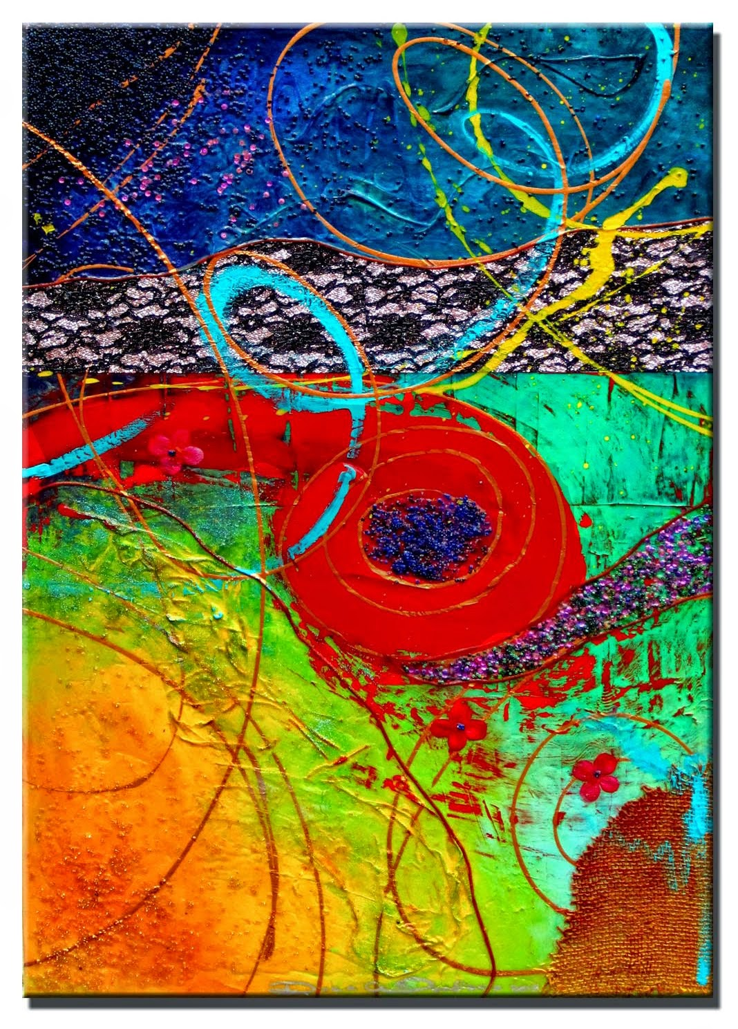"Abstract Painting ""Positive Energy"" by Dora Woodrum"