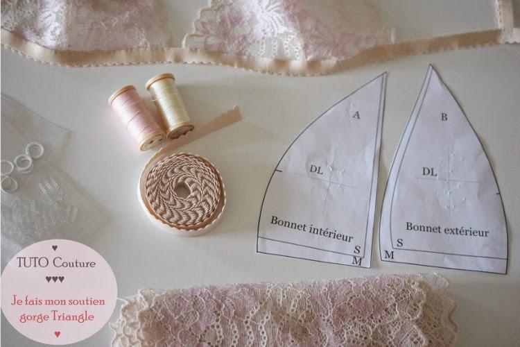 """matériel pour confectionner créer sa lingerie , élastique pour lingerie et soutien gorge , dentelle de calais pour lingerie , coudre sa lingerie à l'aide de patron de couture téléchargeable """" jefaismesdessous """" Vanessa Lekpa"""