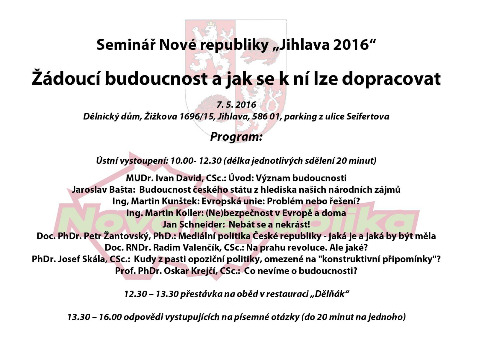 Jihlavský seminář 2016