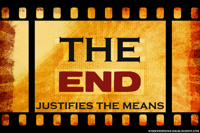 the end justifies the means essay Cv writing services in dubai do the end justify the means essay essays about marijuana law day essay × × toggle navigation the end justifies the means essay.