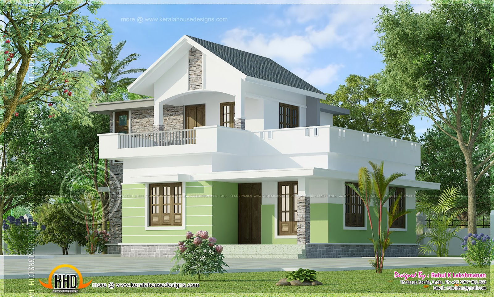 Small House Elevation In Kerala : December kerala home design and floor plans