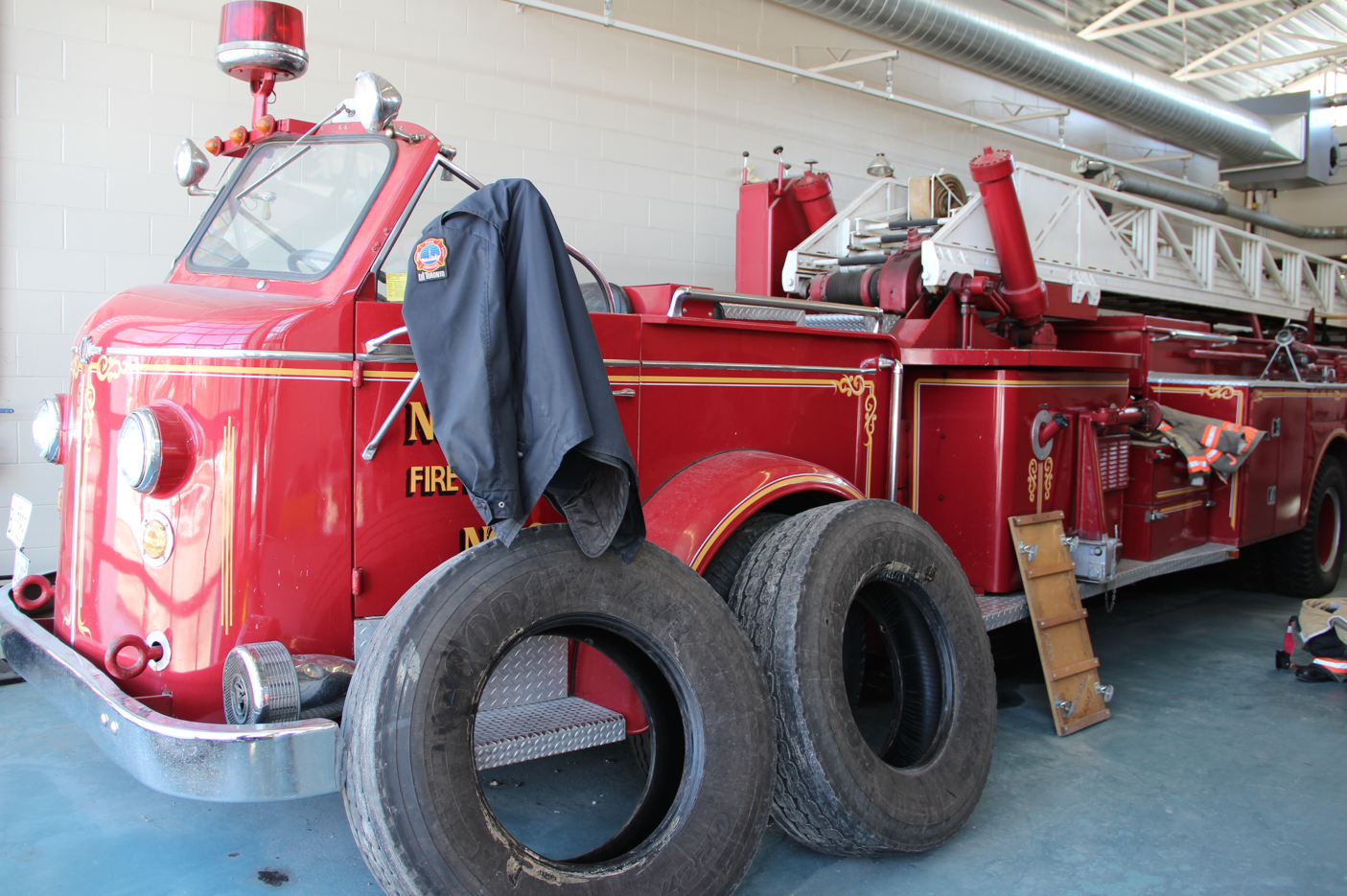 Community Helpers: A Visit With a Local Firefighter - old fire truck