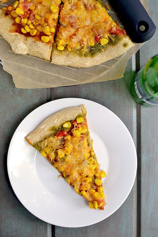 Two Corn Pizza