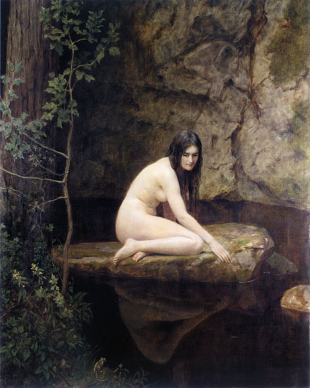collier waternymph painting
