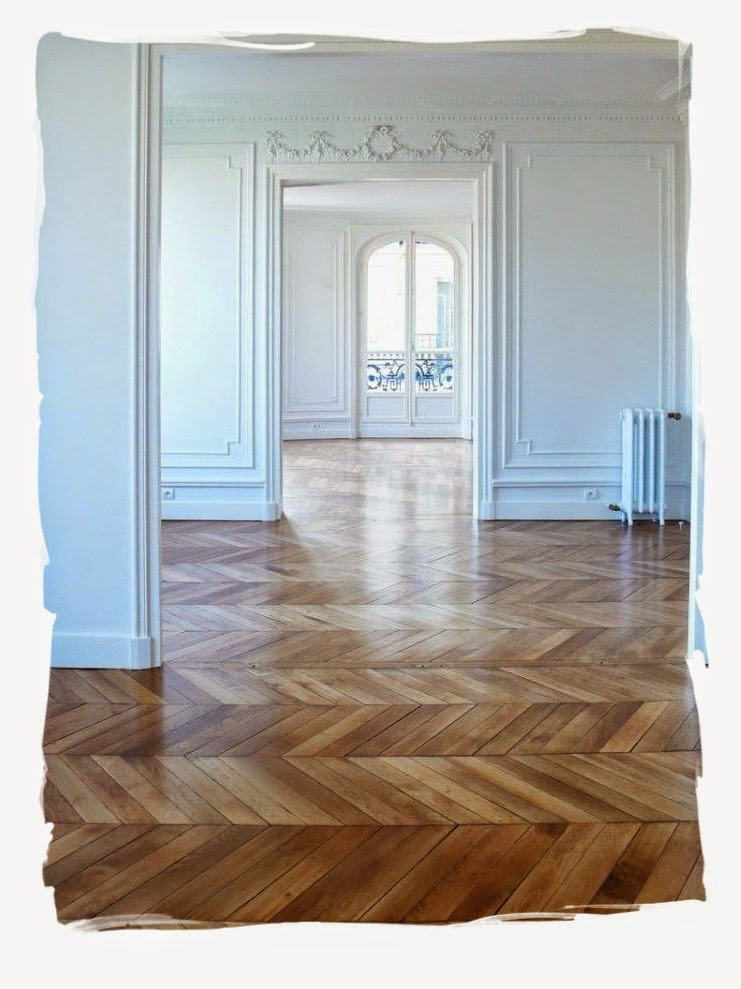Have some decorum parisian apartment part cinq l for Wood floors in the new apartment