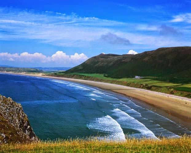 Rhossili Bay du Pays de Galles