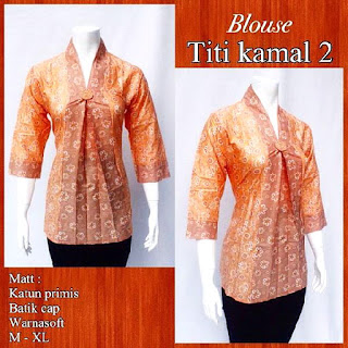 Model Blouse Batik Titi Kamal DBT 4244