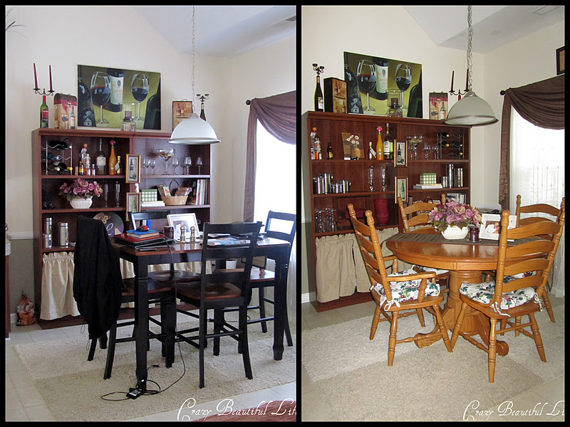 Glitter glue and paint dining room to office for Dining room vs office