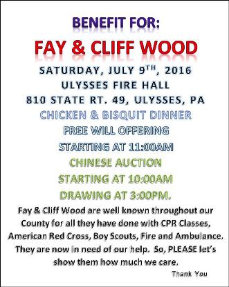 7-9 Benefit For Fay & Cliff Wood