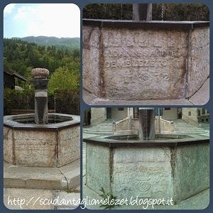 fontana nella piazza di Melezet