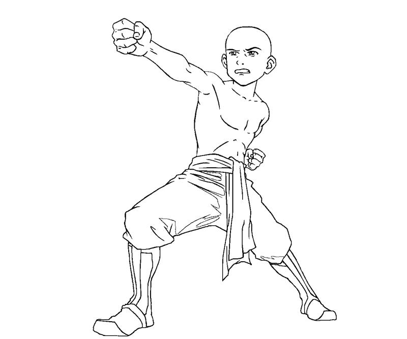 Printable Aang 6 Coloring Page