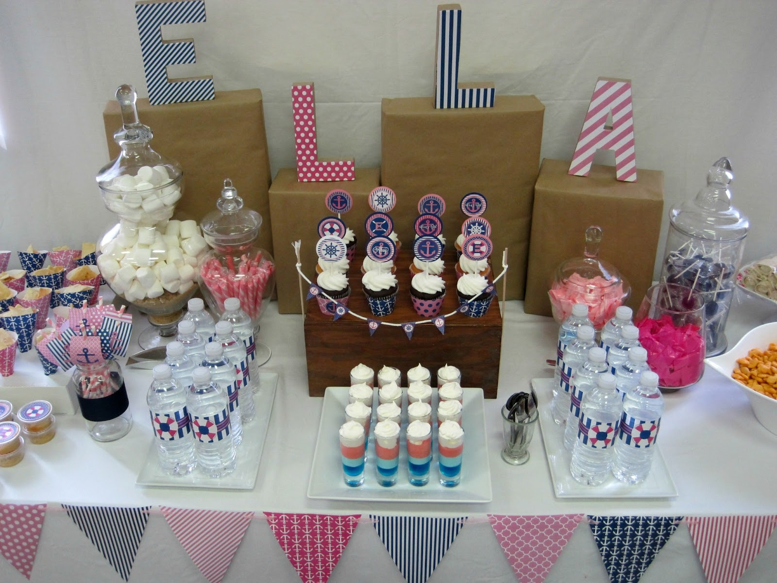 Pink And Navy Nautical Baby Shower With NBrynn Designs