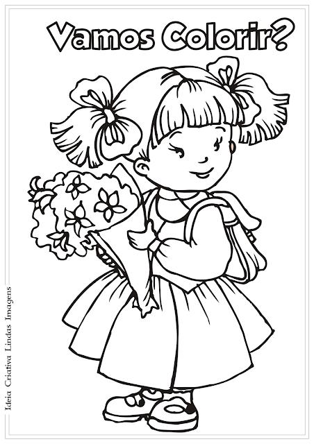 Estudante - Volta às Aulas desenho para colorir