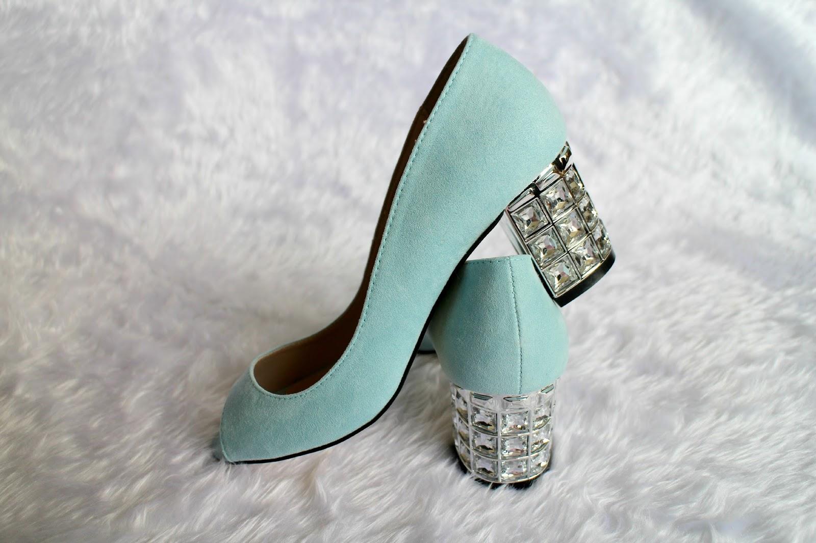 Dorothy Perkins Blue Embellished Heel Shoes