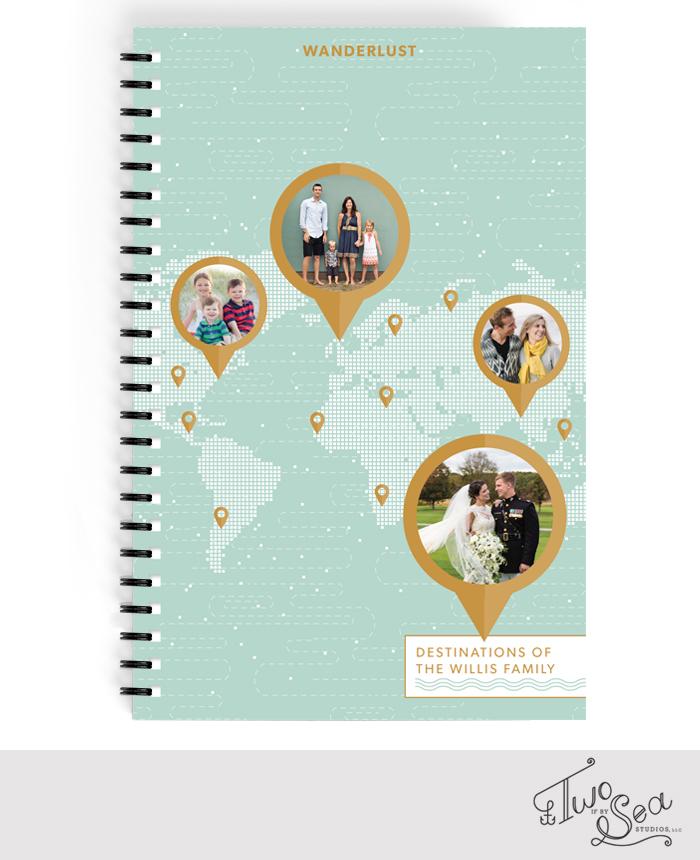 journal wanderlust minted travel map globe design notebook planner address book