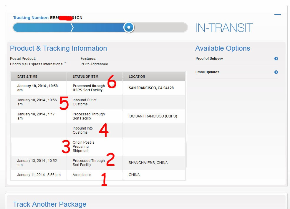 Usps express tracking not updating