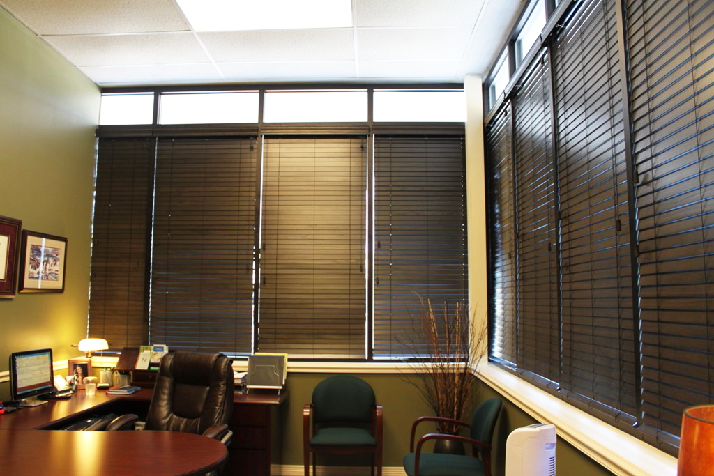 Decorative Wooden Blinds : Custom wood blinds grasscloth wallpaper