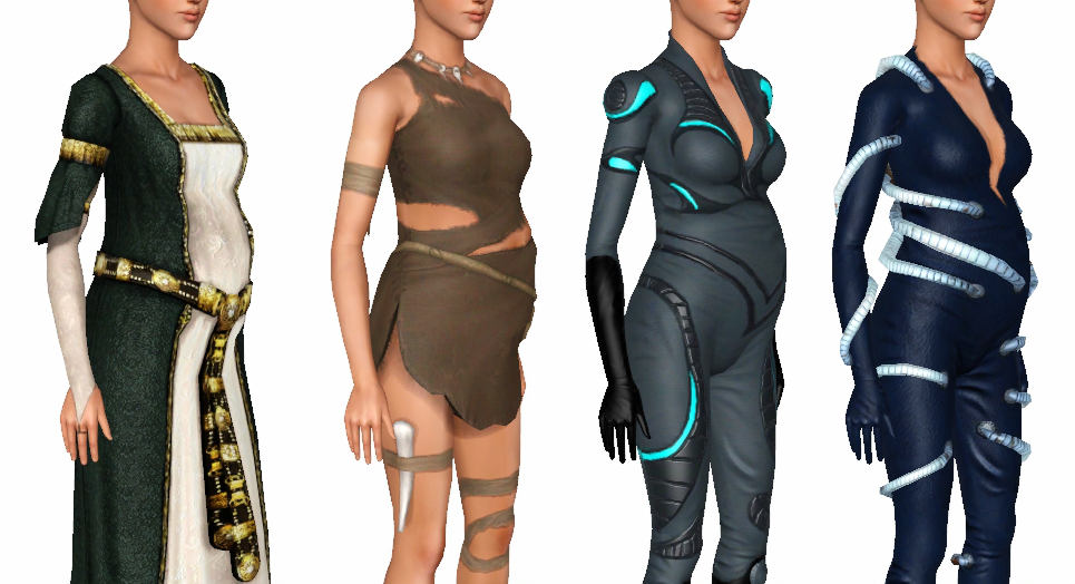 My Sims 3 Blog All Ambitions Clothing Maternity Enabled