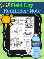 Field Day Reminder ~ FREEBIE