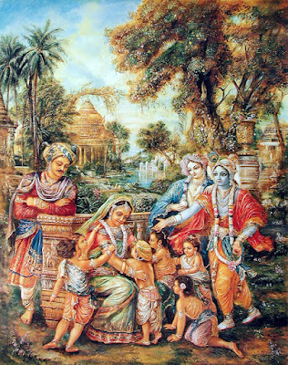 Krsna returns the six sons of Devaki