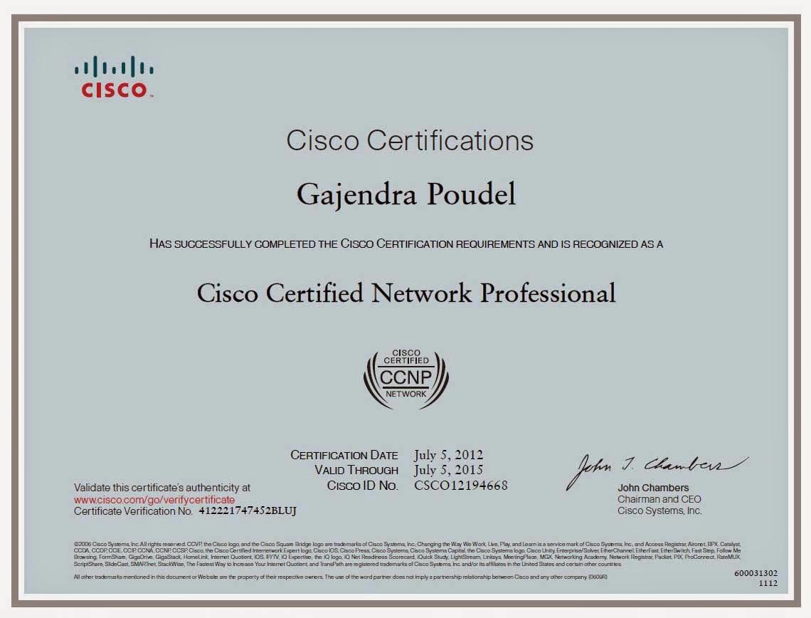 Gajendra Ccnp Certificate Certificate