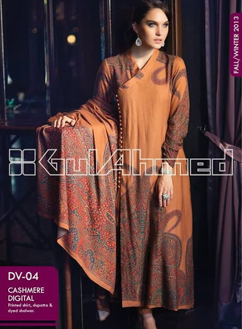 Gul Ahmed Fall Winter Cashmere Digital Collection 2013