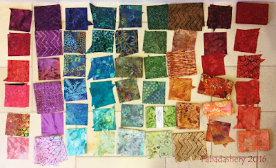 Colourwave Quilt - fabric selection