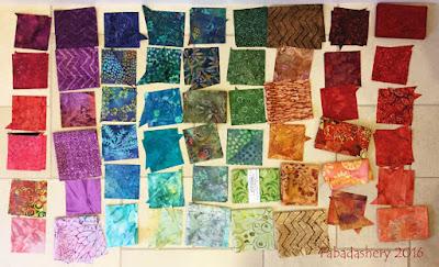 Colourwave Quilt - fabric selection