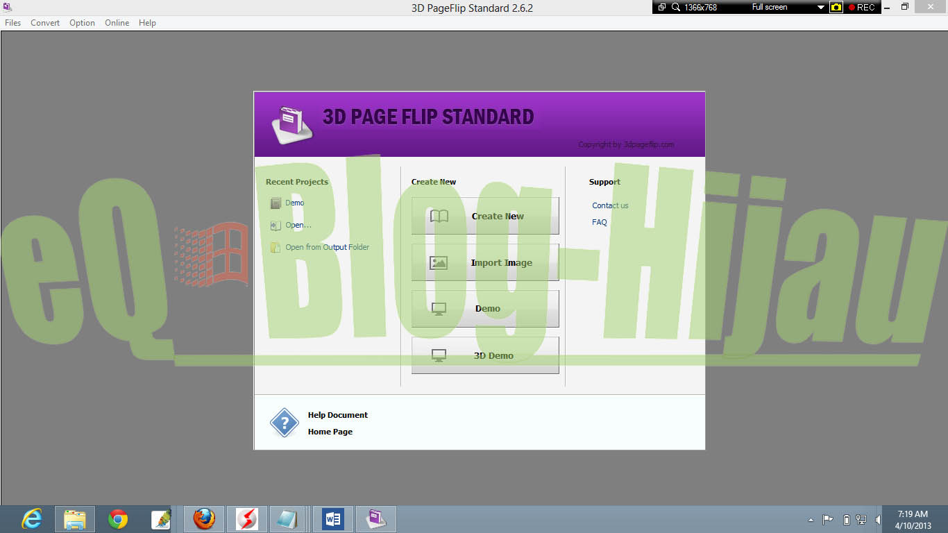 Free Download 3D PageFlip Standard 2.6.2 Portable