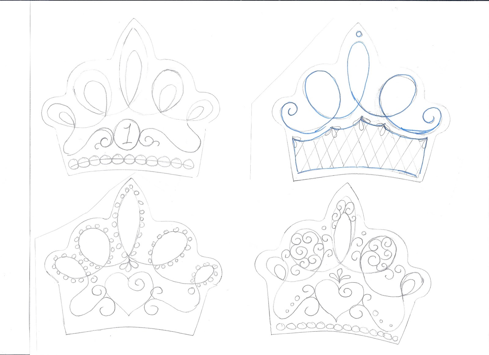 Fondant Crown Template - FREE DOWNLOAD