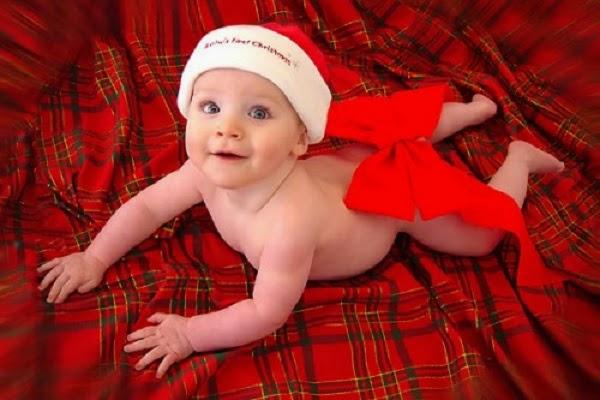 Photo bébé noël