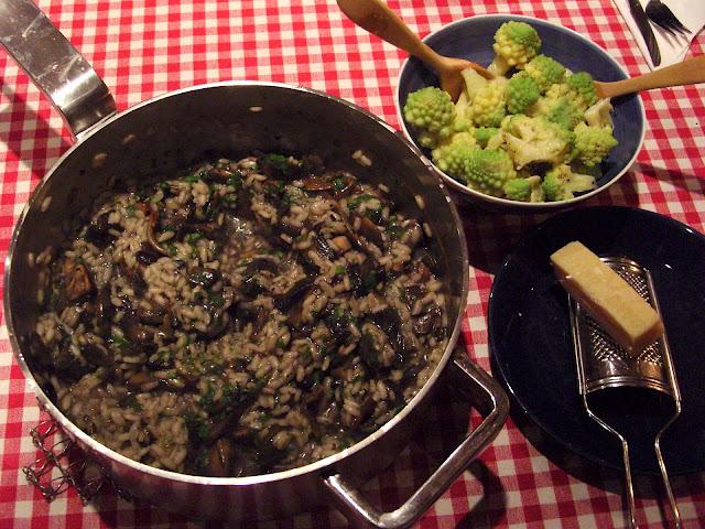 Field mushroom risotto