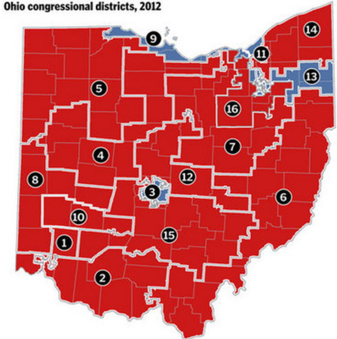 Of House Bill 319 S Gerrymandered Congressional Districts Make It Appear That Ohio Is A Lopsided Republican State A La Alabama Arkansas And Louisiana