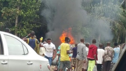 Fully Loaded God is Good Motors collides with Dangote Truck leaving many dead . (Graphic Photos )