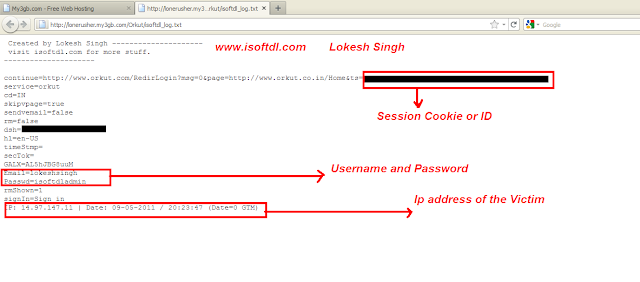 hack or crack orkut account password online