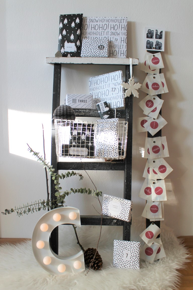 kleines freudenhaus diy adventskalender aus holz nicht. Black Bedroom Furniture Sets. Home Design Ideas