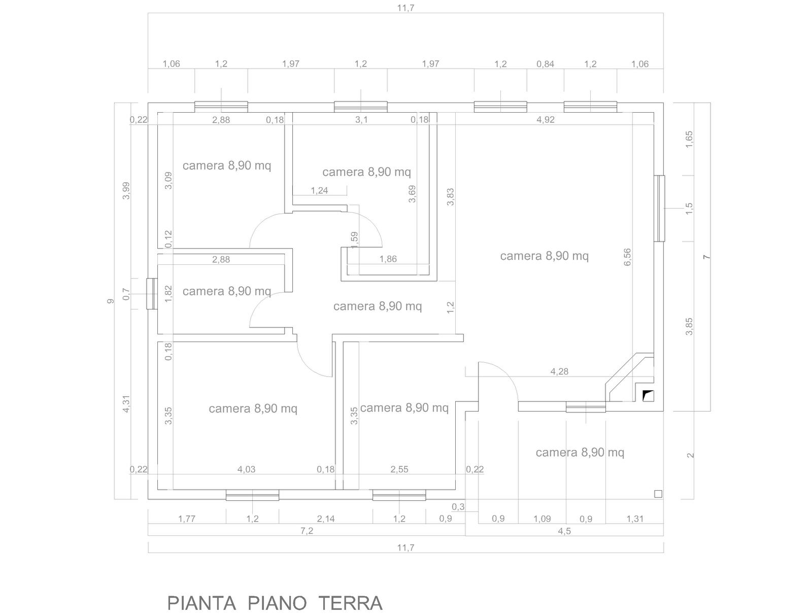 Progetti di case in legno alessandra 96 mq portico 9 mq for Progetti di piani portico proiettati