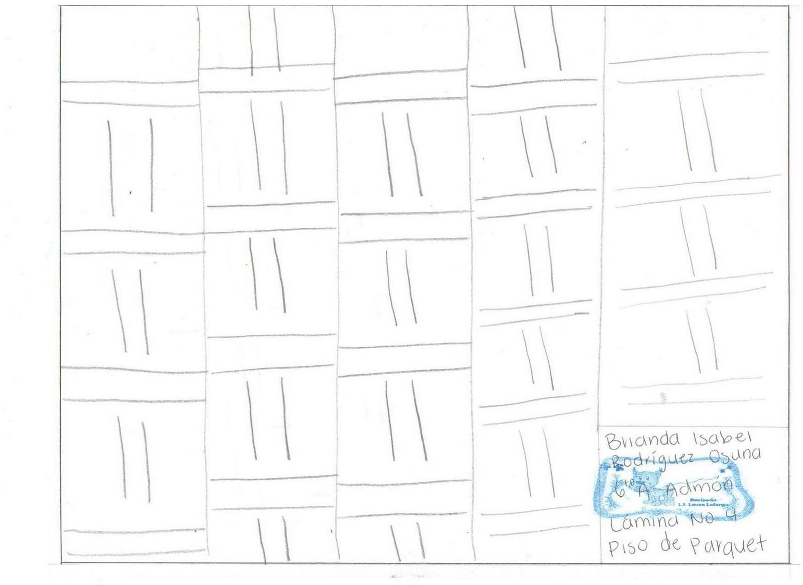 Dibujo t cnico l mina 4 piso de parquet - Laminas de parquet ...