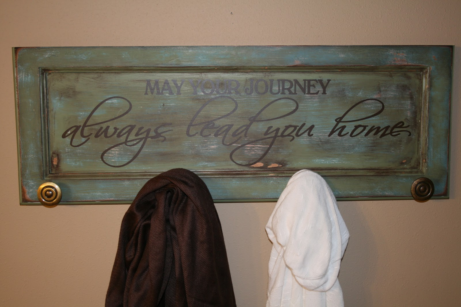 Cabinet Door Coat Rack