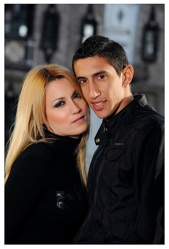 Ángel Di María with beautiful, Wife Jorgelina Cardoso