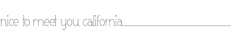 nice to meet you, california