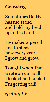 poem about growing up A beautiful poem for parents sing that 'one more song' at bedtime, because this time, might be the last time grade school and one sighing up in air force.