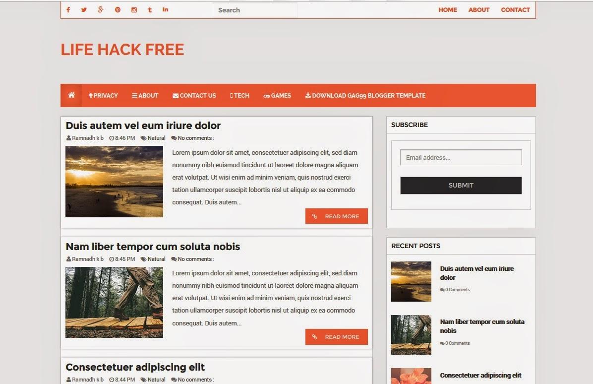 Life Hack Website Templates - TAMPLATES