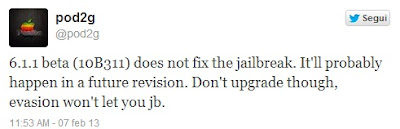 Evasi0n Jailbreak iOS 6 Pod2g