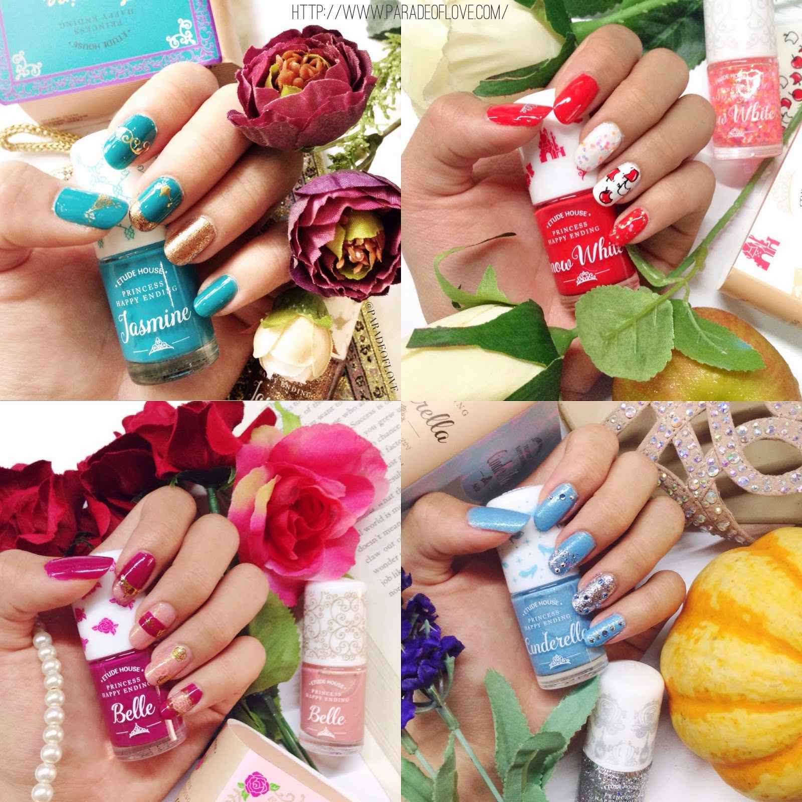 Etude House Princess Happy Ending Nail Polish Kits: Review ...